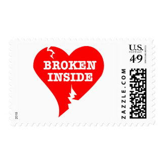 Corazón quebrado dentro sello