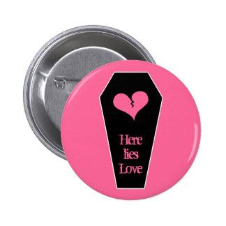 Corazón quebrado lindo del el día de San Valentín  Pin Redondo De 2 Pulgadas