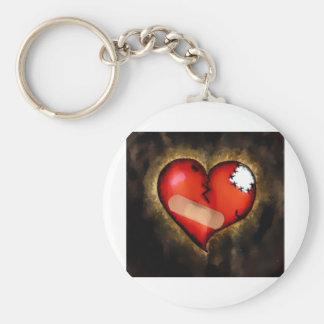 corazón quebrado llavero redondo tipo pin