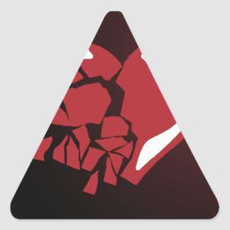 Corazón quebrado pegatina trianguladas personalizadas