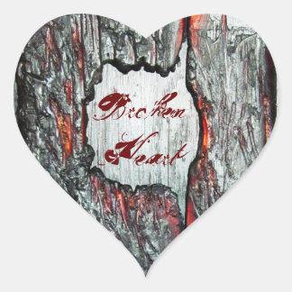 Corazón quebrado calcomanías de corazones personalizadas