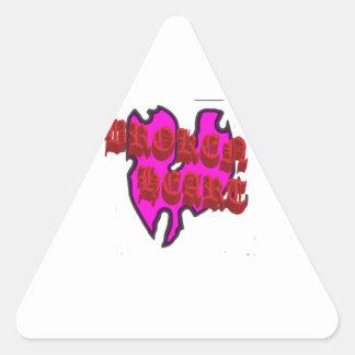 Corazón quebrado etiqueta