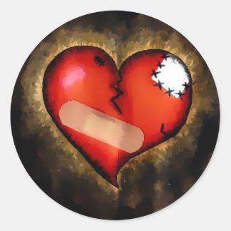 corazón quebrado etiquetas