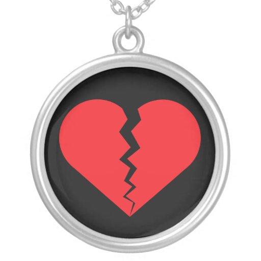 Corazón quebrado pendientes personalizados