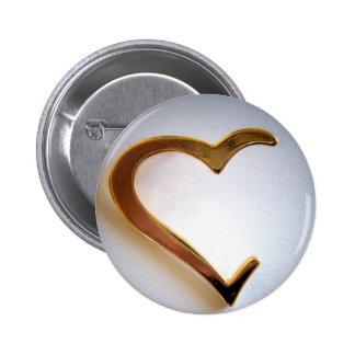 Corazón quebrado pin redondo de 2 pulgadas