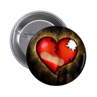 corazón quebrado pins