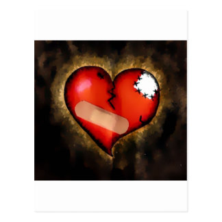 corazón quebrado postales
