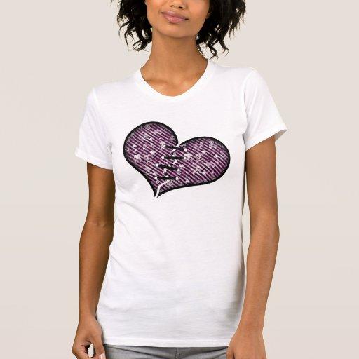 Corazón quebrado punky camisetas