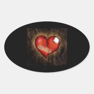 Corazón quebrado reparación del pegatina Corazón-o