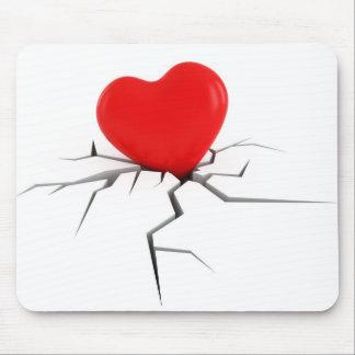 Corazón quebrado tapete de ratón