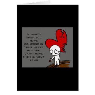Corazón quebrado tarjeta de felicitación