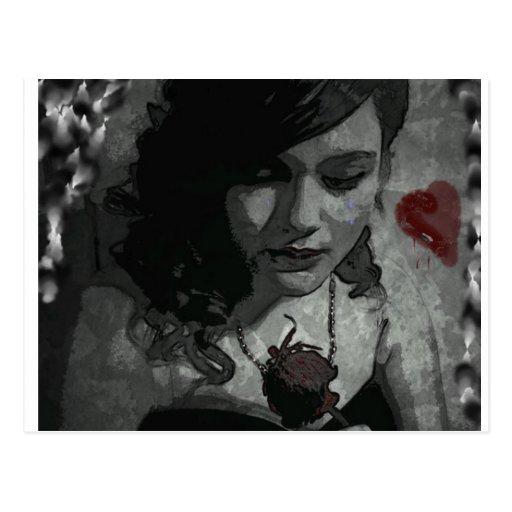 Corazón quebrado tarjeta postal