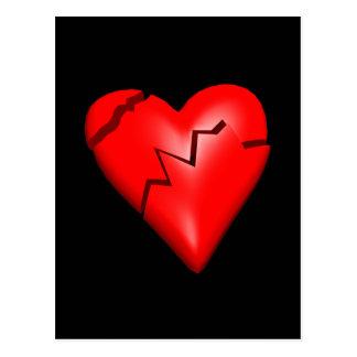 Corazón quebrado postal
