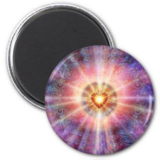 Corazón radiante iman para frigorífico