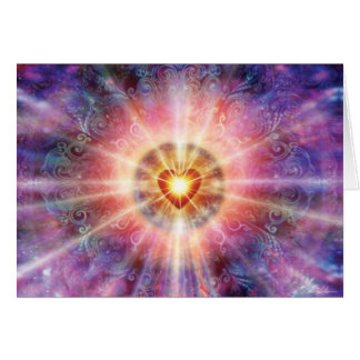 Corazón radiante tarjetón