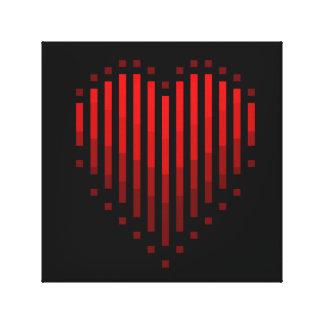 Corazón rayado impresión en lona