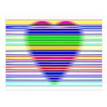 Corazón rayado postal