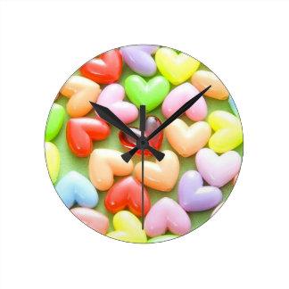 corazón relojes de pared