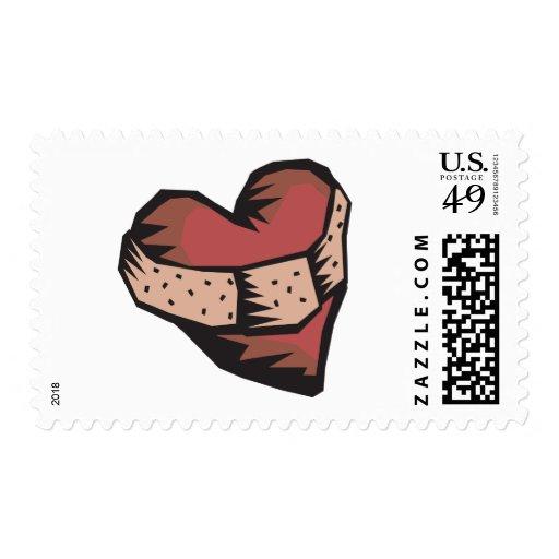 Corazón reparado sello