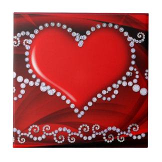 Corazón resumido con la teja del fractal de las