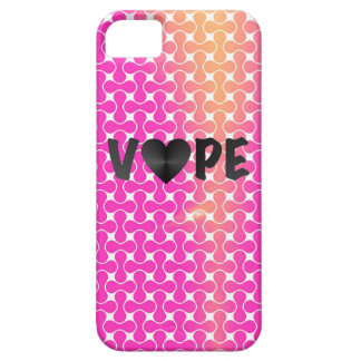 Corazón retro amarillo rosado de Vape iPhone 5 Carcasa