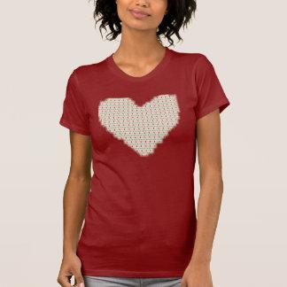 Corazón retro camisetas