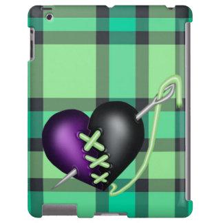 Corazón retro del zombi de la diversión funda para iPad