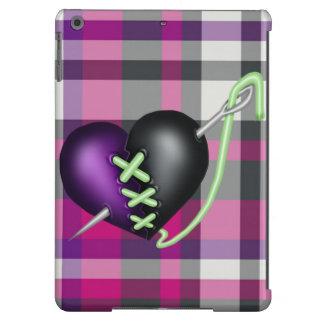Corazón retro del zombi de la diversión funda para iPad air
