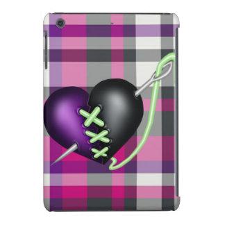 Corazón retro del zombi de la diversión fundas de iPad mini