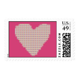 Corazón retro sello