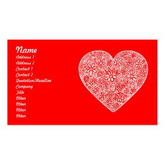 Corazón reunido - modificado para requisitos tarjetas de visita
