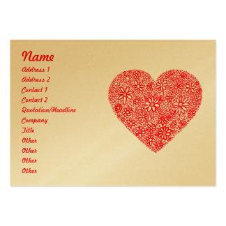 Corazón reunido - oro tarjetas de visita grandes
