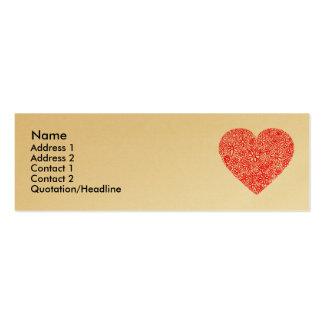 Corazón reunido - oro tarjetas de visita mini
