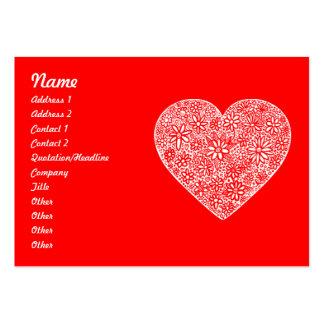 Corazón reunido tarjetas de visita grandes
