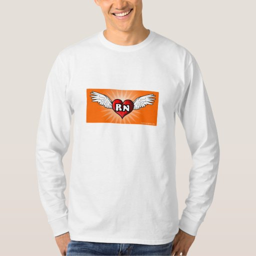 Corazón RN del vuelo Playeras