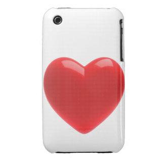 corazón rojo 3d (cualquier color U tiene gusto!) Case-Mate iPhone 3 Protectores
