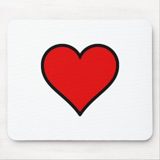 Corazón rojo alfombrilla de ratones