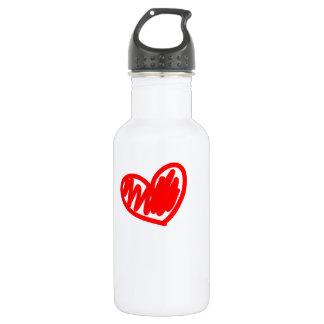 Corazón rojo. Amor. El día de San Valentín