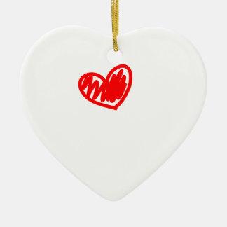 Corazón rojo. Amor. El día de San Valentín Adorno Navideño De Cerámica En Forma De Corazón