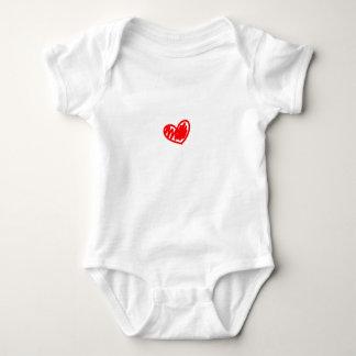 Corazón rojo. Amor. El día de San Valentín Playeras