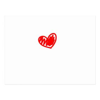 Corazón rojo. Amor. El día de San Valentín Postal