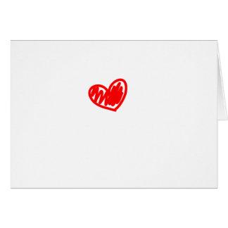 Corazón rojo. Amor. El día de San Valentín Tarjeta De Felicitación