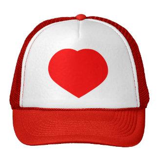 corazón rojo, amor gorro de camionero