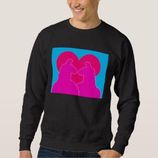 Corazón rojo Amor-Grande de la tarjeta del día de Sudadera