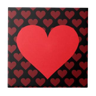Corazón rojo - amor, juego de la tarjeta, anatomía azulejo ceramica