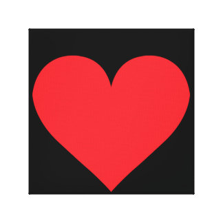 Corazón rojo - amor juego de la tarjeta anatomía impresiones en lona