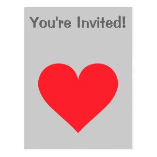 Corazón rojo - amor, juego de la tarjeta, anatomía postales
