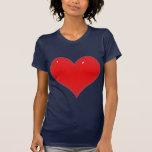 Corazón rojo brillante (añada su texto) camiseta