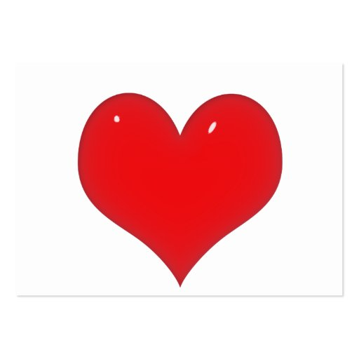 Corazón rojo brillante (añada su texto) tarjetas de visita grandes