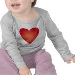 Corazón rojo camiseta